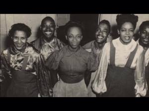 Norma Miller (centre front)